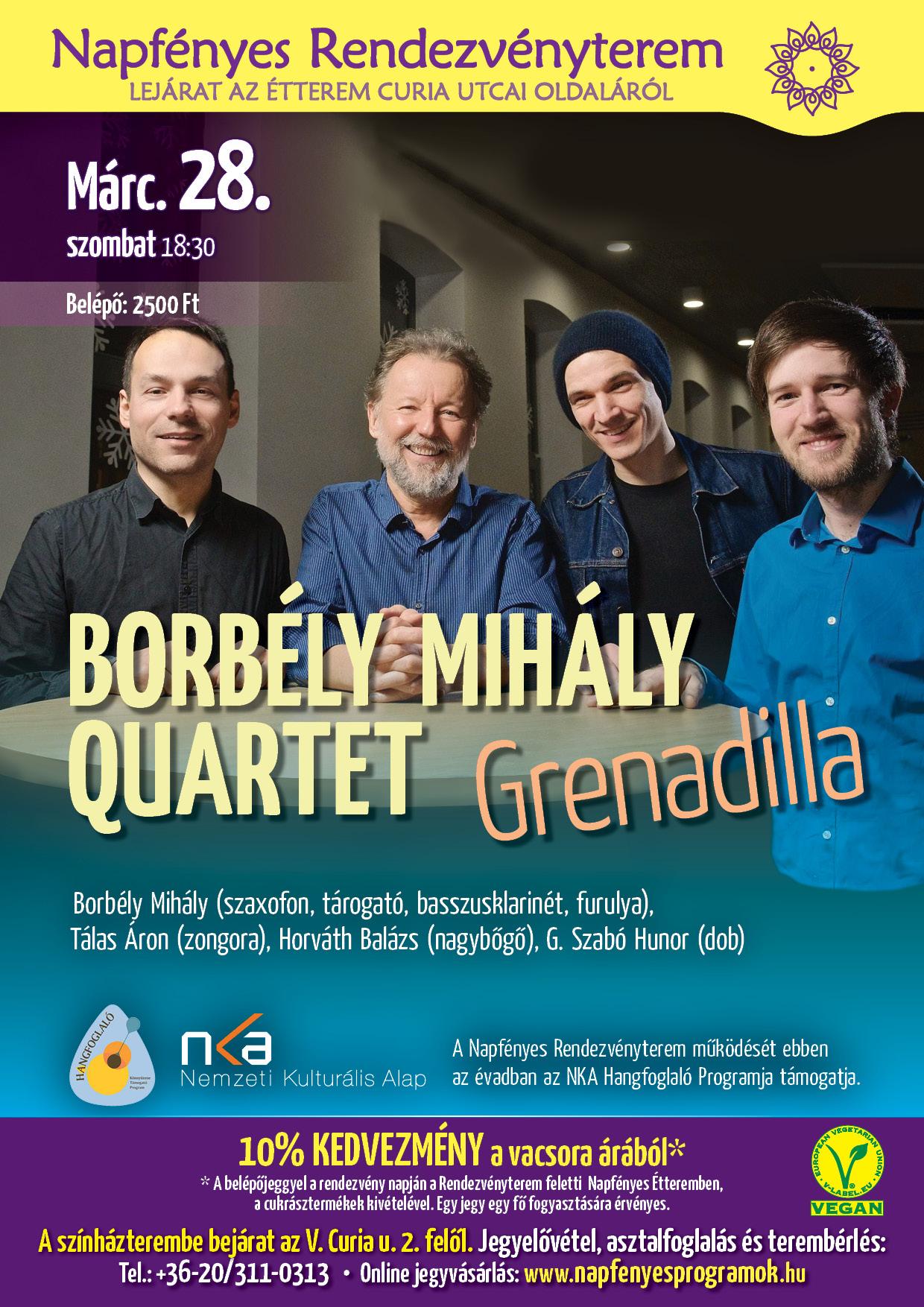 Borbély Mihály Quartet A4